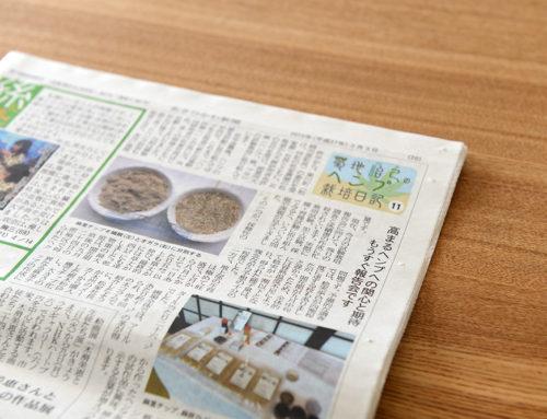 ヘンプ栽培日記が掲載されました